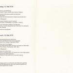 Tagung 1979: Programm
